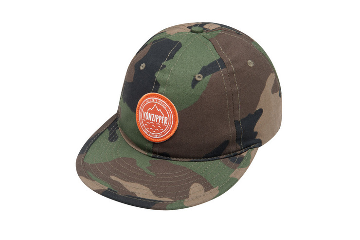 VonZipper Badger Scout snapback hat in camo MAHT7BAD-CMO