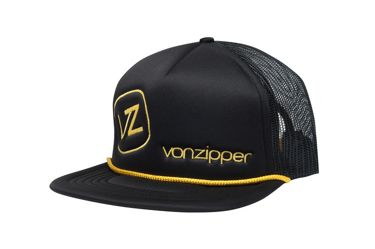 VonZipper Moby trucker hat in black.