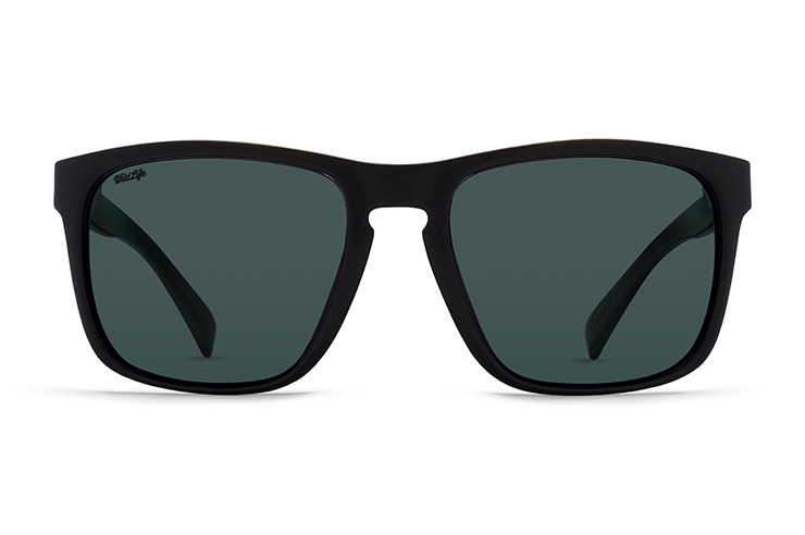 VonZipper Lomax sunglasses in black satin with vintage grey polycarbonate lenses SMSF1LOM-BKS