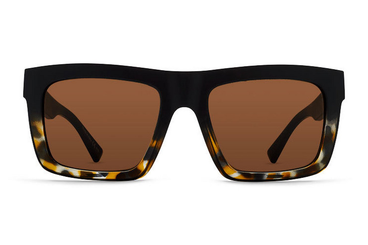 VonZipper Donmega sunglasses in black satin with grey polycarbonate lenses. SMSF7DON-BKS