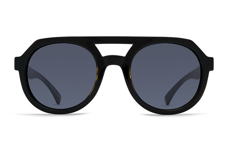 VonZipper Psychwig sunglasses in black satin with grey lenses. SMRFAPSY-BKS.