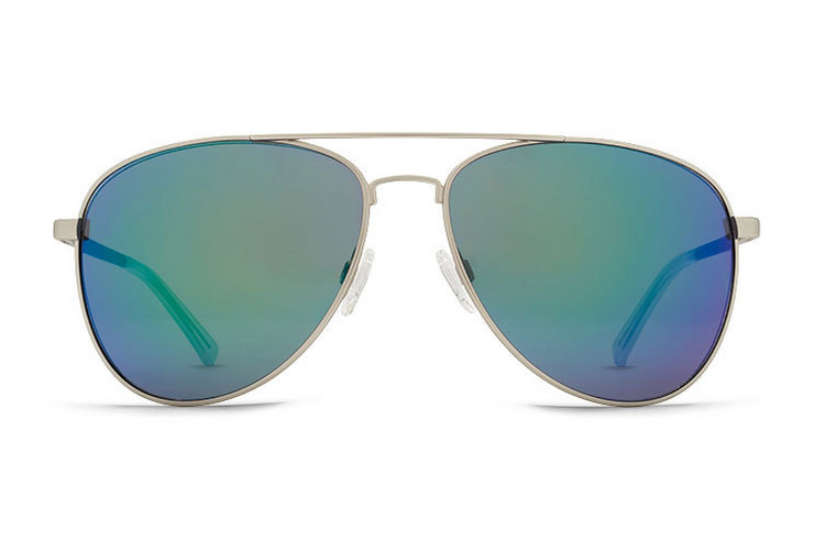 VonZipper Farva sunglasses in silver satin with quasar glo lenses. SMWF7FAR-SSG