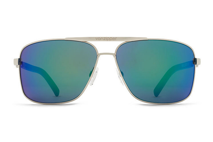 VonZipper Metal Stache sunglasses in silver with grey polycarbonate lenses SMWFMMST-SGY